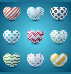 love and heart realistic icon vector image