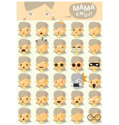 Mama emoji icons vector