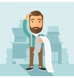 Man worried about his bills vector image