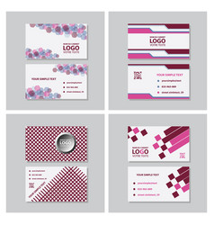 Modern creative and clean business card template vector
