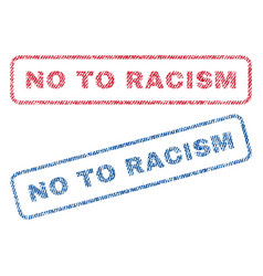No to racism textile stamps vector