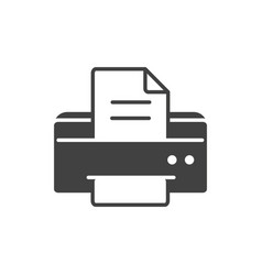 Office equipment paper printer supply silhouette vector