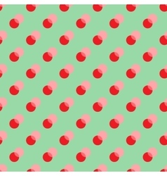 Polka dot red double seamless pattern vector image