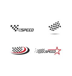 Race flag icon vector