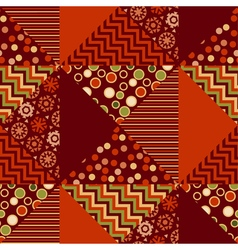 red xmas abstract background in patchwork style vector image