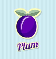 retro plum vector image