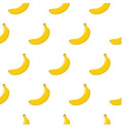 rgb seamless cute banana pattern flat style vector image
