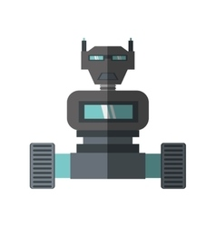 robot machine science technology shadow vector image