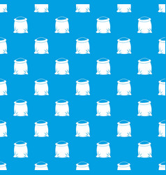 Sack full of flour pattern seamless blue vector