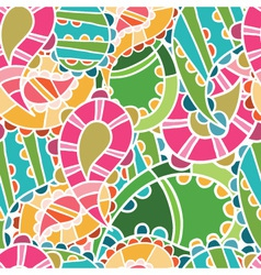 seamless pattern with bright cucumbers vector image