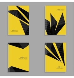 Set covers for magazine black stripes vector