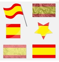 Set eith Flags of Spain vector image
