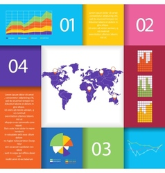 set infographic elements vector image