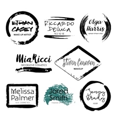 Set makeup artist design logo templates vector