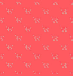 Shopping cart seamless pattern vector