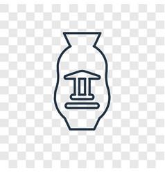 Souvenir concept linear icon isolated on vector