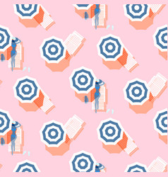 summer seamless pattern vintage colors vector image