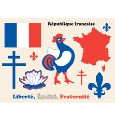 Symbols of France vector