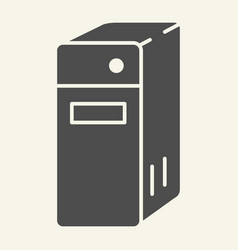 system unit of a computer solid icon pc block vector image