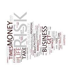 Test can you take risk text background word cloud vector