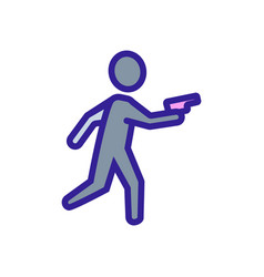 The criminal thief is a gangster icon vector