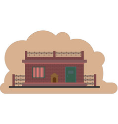 The prison building protected object vector