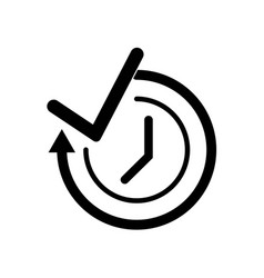 time check symbol icon icon simple element time vector image