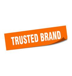 Trusted brand sticker trusted brand square vector