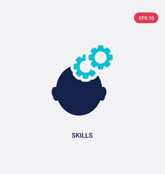 Two color skills icon from human resources vector