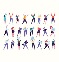 various gesture employee team stand together vector image