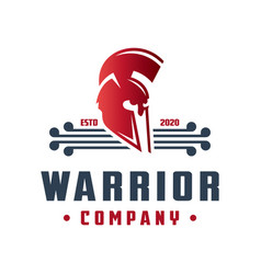 warrior head logo design vector image
