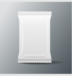 White blank food bag packaging 3 d vector