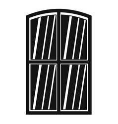Wooden window icon simple vector