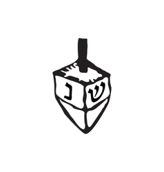 Chanukah sevivon doodle zentangle sketch draw vector