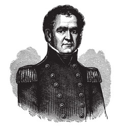 commodore john rodgers vintage vector image vector image