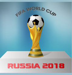 fifa world cup russia 2018 vector image