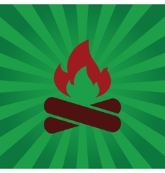 Fire symbol on background beams vector image vector image