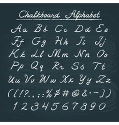 Hand drawn chalkboard alphabet vector image