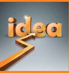 Idea 3d business infographics arrows icon vector