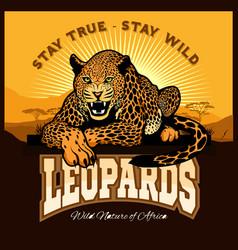 Jaguar leopard logo emblem symbol vector