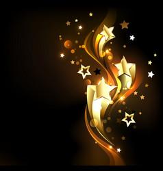 three soaring gold stars vector image vector image