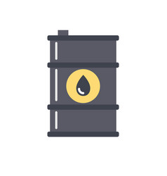 barrel of oil icon vector image