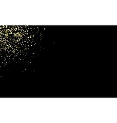 gold confetti on a black vector image