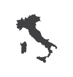 Italy map silhouette vector image vector image