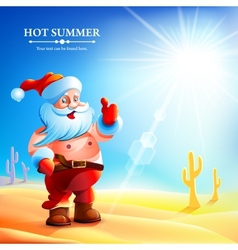 Santa Claus hot in summer vector image vector image