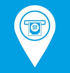 Cash terminal pointer icon white vector