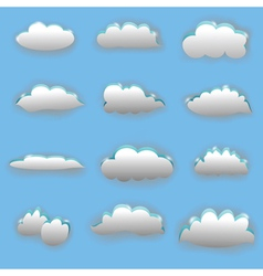 clouds vector image