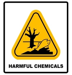 harmful chemicals keep out hazardous to aquatic vector image vector image
