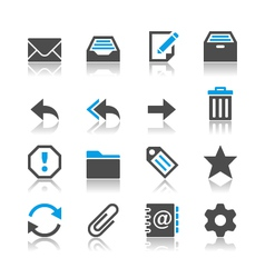Email icons reflection vector image vector image