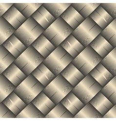 ornate diagonal basket texture vector image vector image